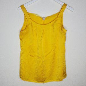J Crew Yellow Silk Tank Top